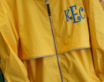 Monogram Rain Jacket  Font Shown PARTY TIME