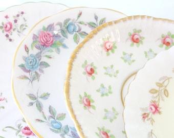 Vintage Medley Mismatched Saucers Set of 10 BRIDESMAID GIFTS Tea Party Saucers Bridal Shower or Bachelorette Favors