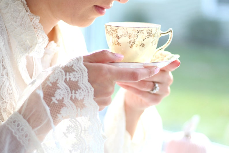 TEACUP & SAUCER  English Bone China by Rosina Replacement image 0