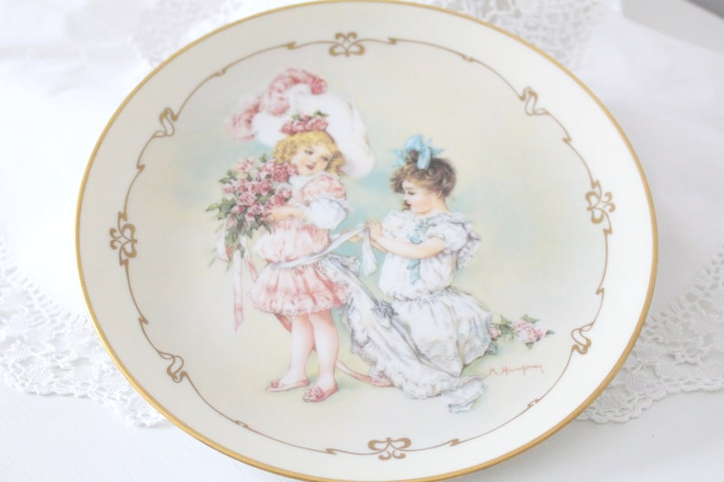 WEDDING GIFT Artist Signed Bridesmaid Gift Porcelain Plate image 0