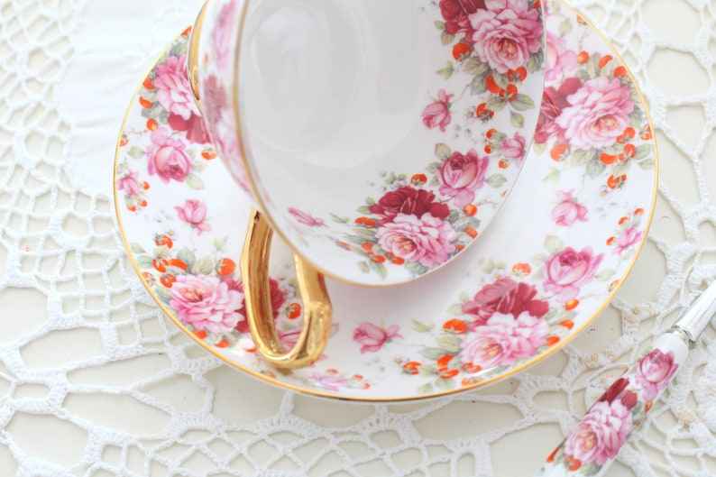 BRIDESMAID GIFTS Teacup & Saucer with Spoon by Kendal image 0
