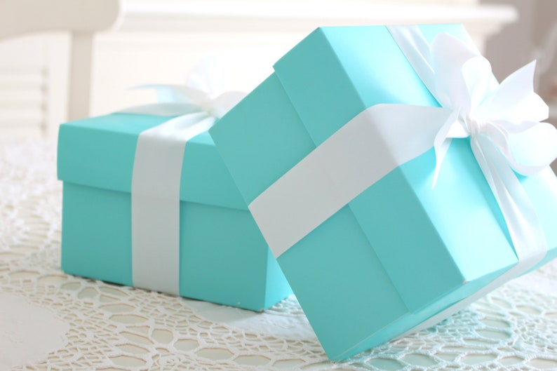 GIFT BOX with White Satin Ribbon Gift Box for Any Occassion image 0