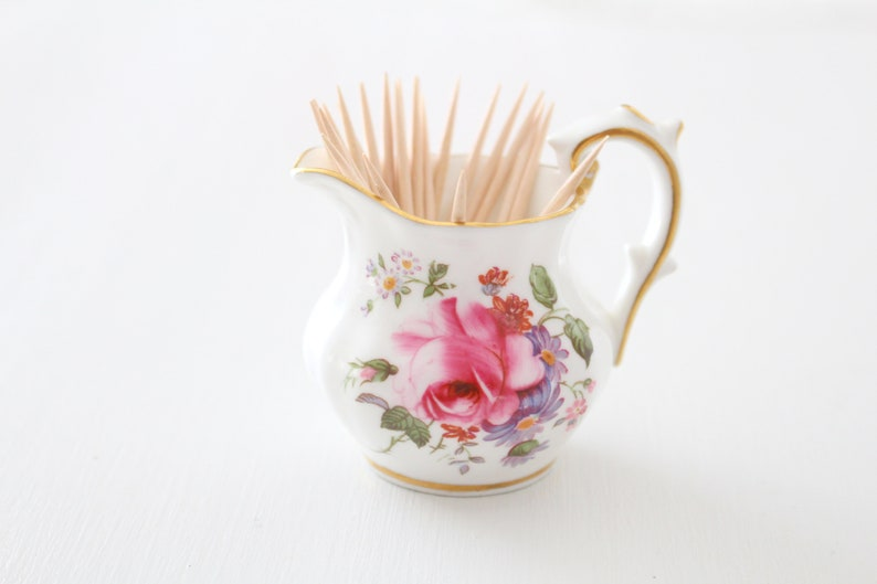 MINI PITCHER Repurposed Toothpick Holder by Royal Crown image 0