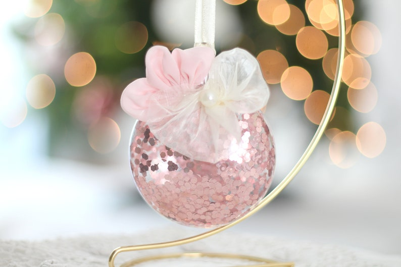 CHRISTMAS Oval Ornament Secret Santa Gifts for Her Pink image 0