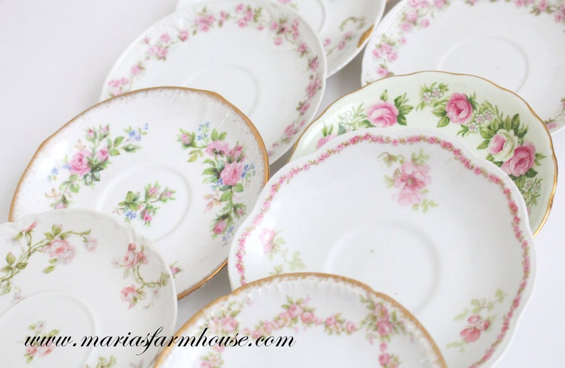 BRIDESMAID GIFTS Saucers by Limoges Set of 10 Bridal Shower image 0