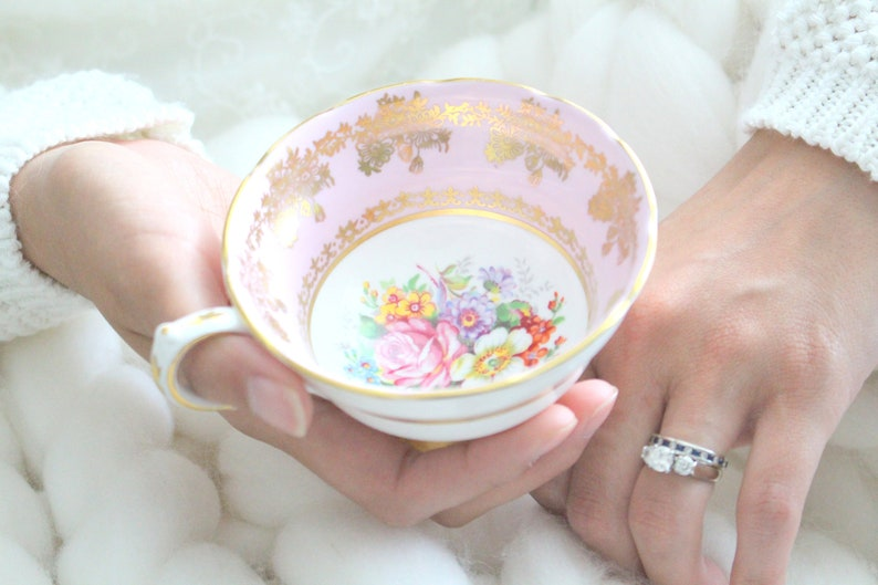 TEACUP English Bone China Cup by Grosvenor Tea Party image 0