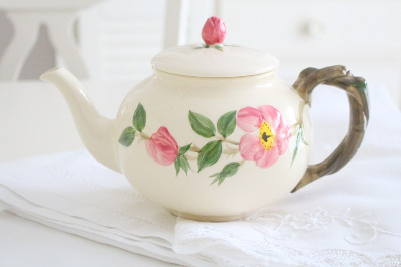 EARTHENWARE TEAPOT Ceramic by Franciscan Desert Rose image 0