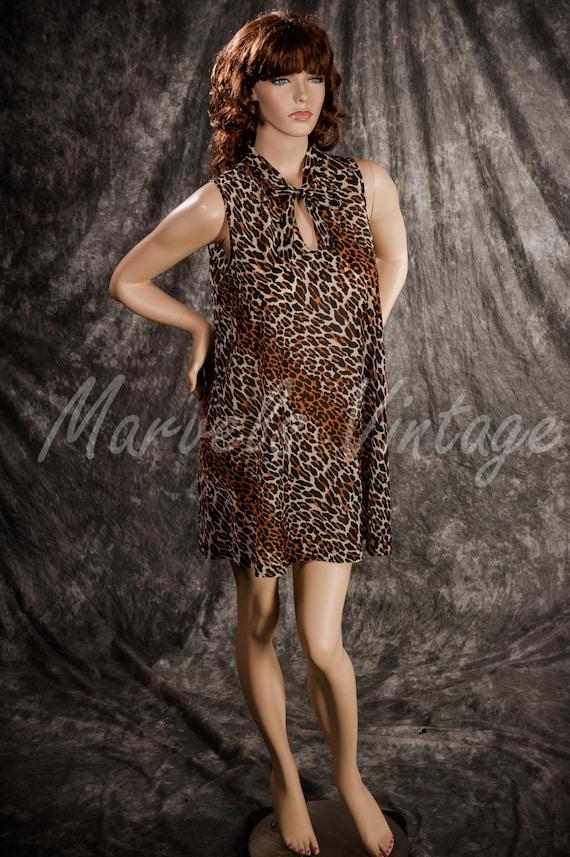 Vintage Vanity Fair Lingerie Leopard Print Short N