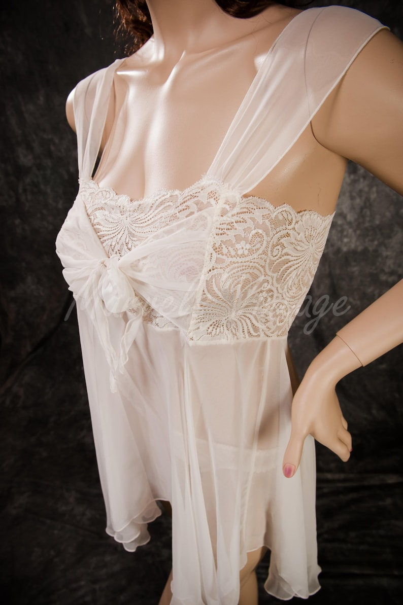 e68b1eacb On Sale Vintage White Chiffon Victoria s Secret Lingerie
