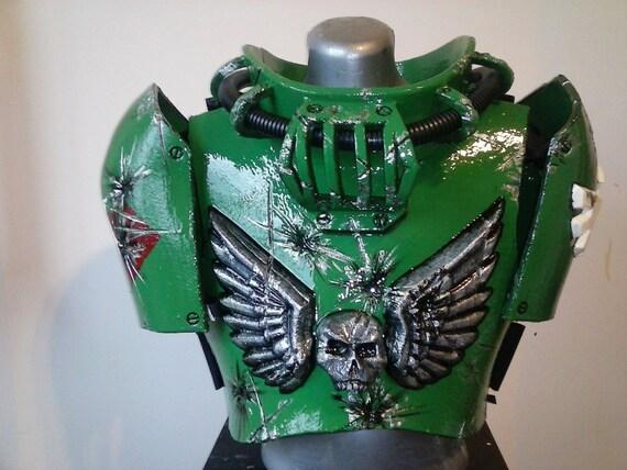 Made To Order Dark Angel Scout Marine Warhammer 40k Armor Etsy