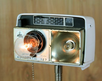 Funky Modern Upcycled - Camera Lamp - Tower Automatic 127