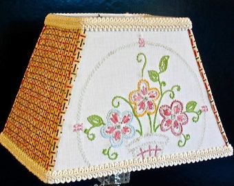 Embroidered Lamp Shades Embroidered lamp shade etsy hand embroidery lampshade cottage farmhouse lamp shade vintage embroidered bedroom floral lampshade cottage audiocablefo