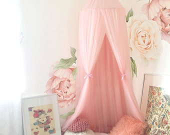 e021821755 Decorative Blush Pink Baldachin with Crown Scandinavian Nursery Room Decor  Children play room canopy crib decor bed canopy Photo Props