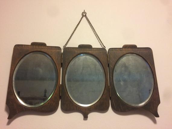 Vintage Tri Fold Vanity Mirror - Vintage Tri Fold Vanity Mirror Etsy