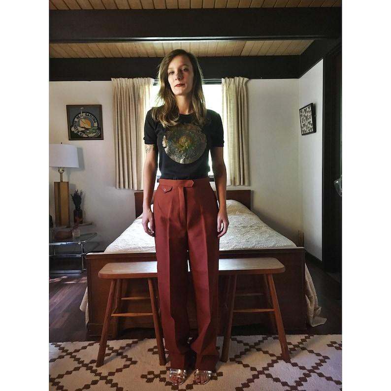 Size SM. Vintage 1960s Bobbie Brooks Cinnamon HIGHWAISTED Pants