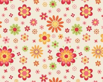 Just Dreamy 2 Cream Floral Yardage SKU# C4131-CREAM
