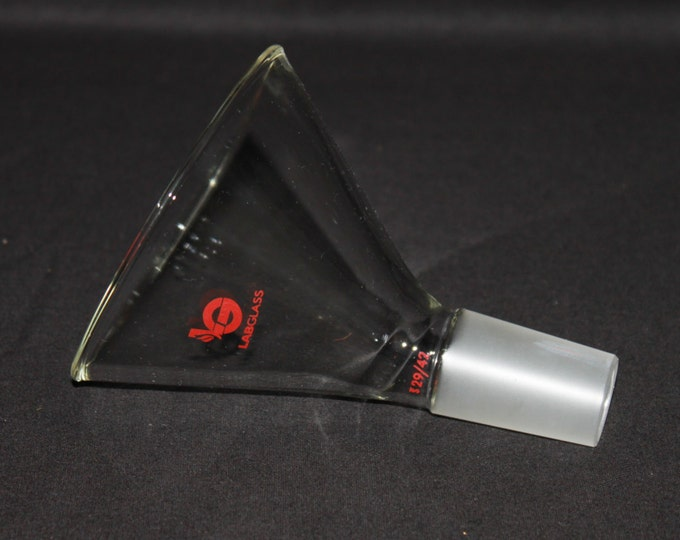 Pyrex LG 60 Degree Offset Powder Funnel 100mm 29/42 Ground Glass Joint