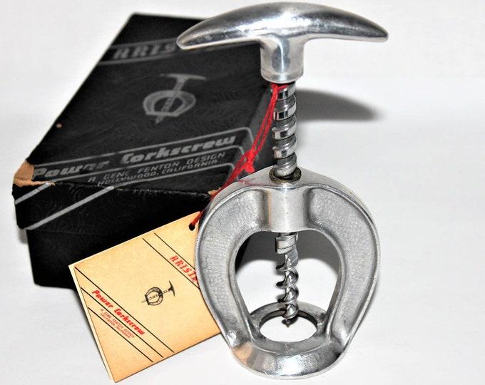 Vintage Corkscrew / 1950s The Aristocrat Power Corkscrew / Horseshoe Shaped Corkscrew / Wine Bottle Opener