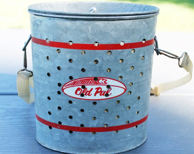 1950s Old Pal Wade-In Galvanized Minnow Bucket