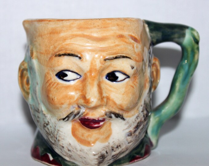 Vintage Mini Toby Mug, Man Looking Sideways with Mustache and Beard