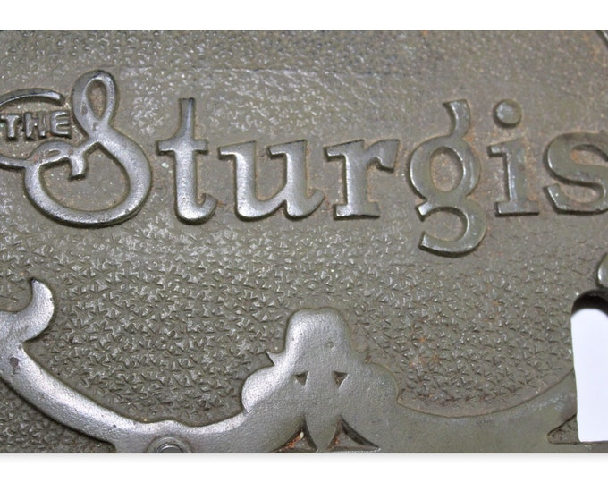 "1890s ""The Sturgis"" Etching Press Machine Cast Iron Name Plates"