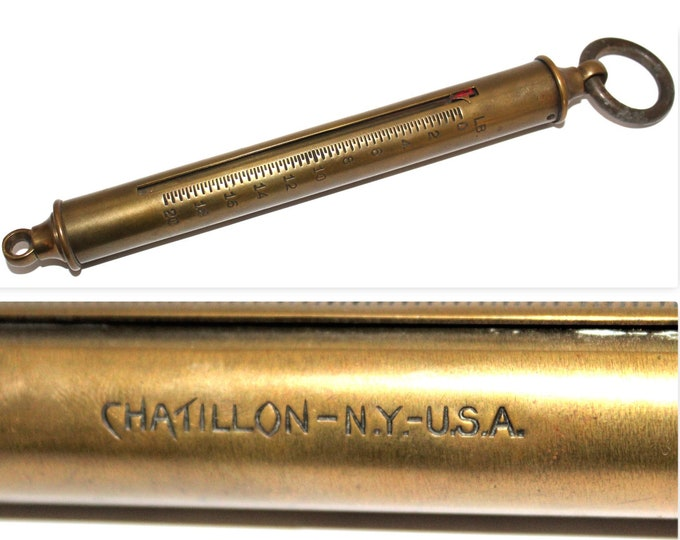 Antique Chatillon Hanging Balance Spring Scale