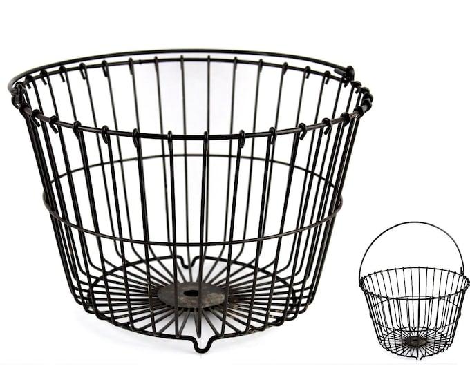 Vintage Farm Basket, Wire Basket, Egg Gathering Basket,  Rustic Wire Basket
