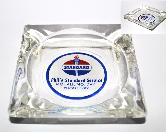 Vintage Standard Gas / Standard Service Station / Gas Station Memorabilia / Advertisement Ashtray