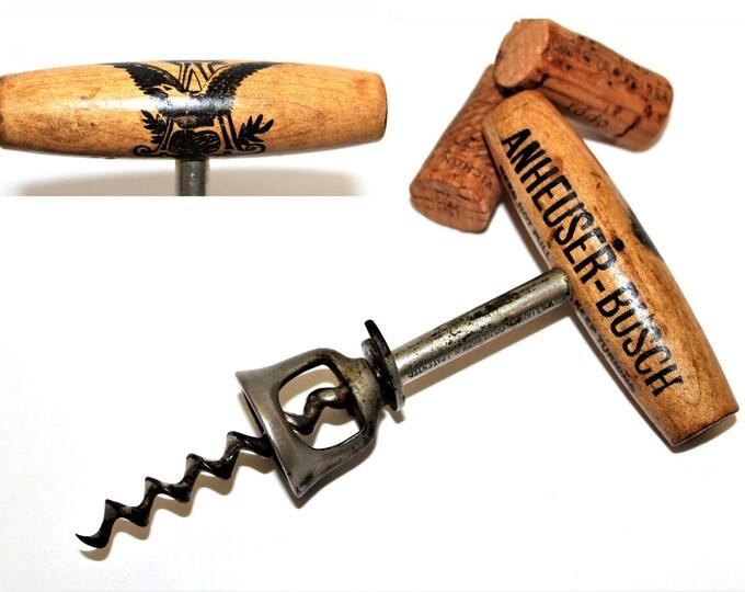Antique Corkscrew, 1897 Anheuser Busch Beer Corkscrew and Bottle Opener