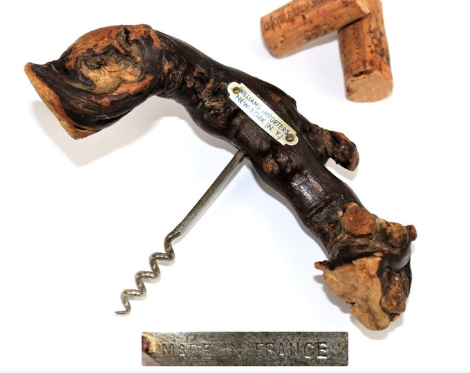 Vintage French Corkscrew / Laurent Siret Corkscrew / GrapeVine Corkscrew / Wine Bottle Opener