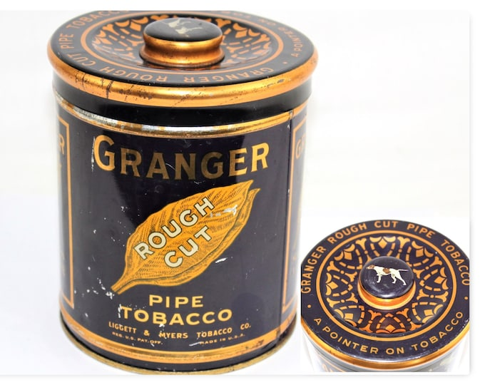 Vintage Granger Rough Cut Pipe Tobacco Tin