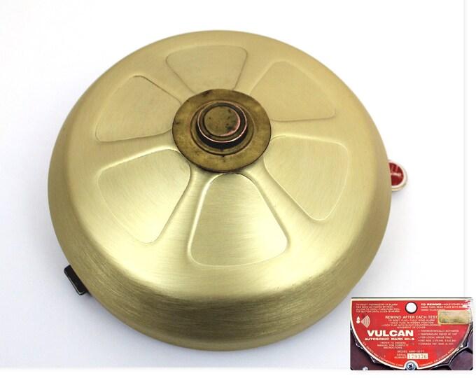 Vintage Brass Bell / Vulcan Autosonic / Alarm Bell / Fire Alarm Bell