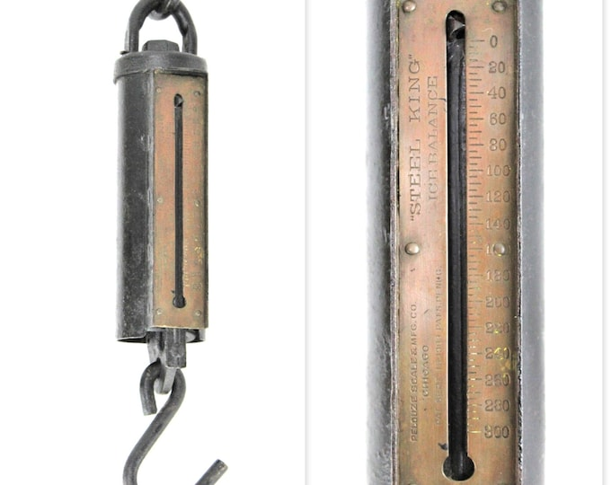 1903 Pelouze Steel King Ice Balance Scale, 300 pound