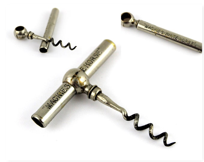 Mackies White Horse Whiskey Advertisement Corkscrew