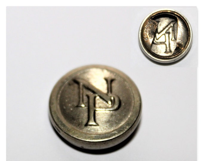 Vintage Northern Pacific Railroad Conductor Button Cover