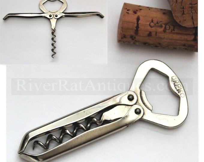 Vintage Corkscrew, German Dreko Folding Corkscrew with Bottle Opener, Wine Opener