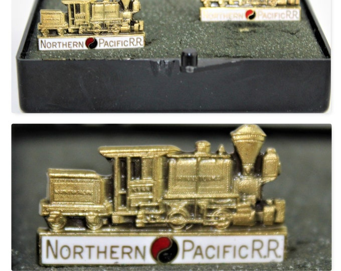 Northern Pacific Railroad Cufflinks, Railroad Memorabilia