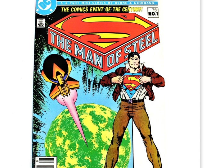 Vintage Superman Comic, D C Comic 1986, THE MAN of STEEL, Prologue: From Out the Green Dawn