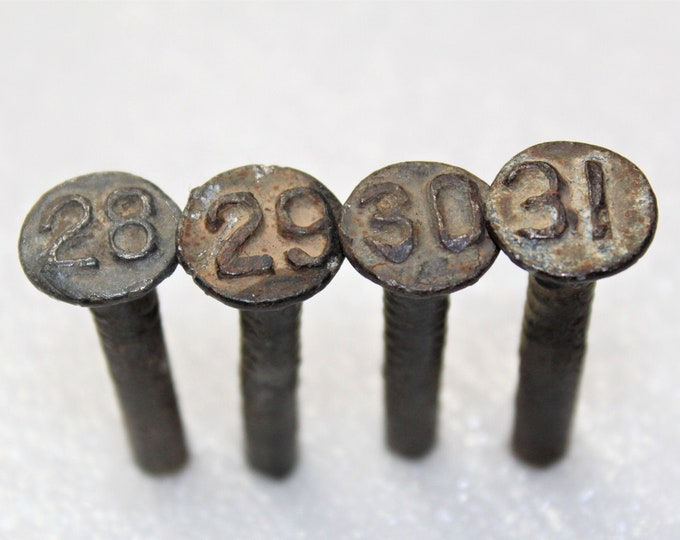 Railroad Memorabilia, 1920-30s Dated Nails, Railroad Nails