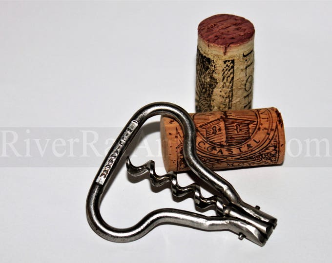 Vintage Corkscrew, Williamsons Harp Corkscrew, Travel Corkscrew, Bow Style Corkscrew, Wine Opener