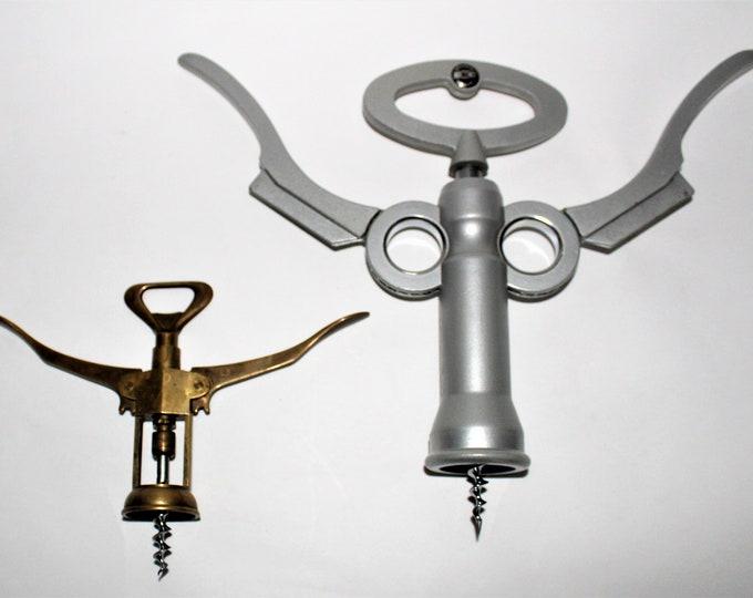 Vintage Corkscrew, Large Italian Brevetti Mestre Corkscrew, Magnum Bottle Corkscrew, Wine Opener