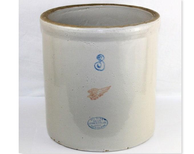 1930s Red Wing Pottery Three Gallon Crock, Pickling Crock, Fermenting Crock