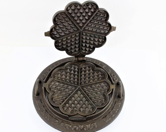 1893 Alfred Anderson & Co. Minneapolis Minn. Heart Shaped Waffle Iron