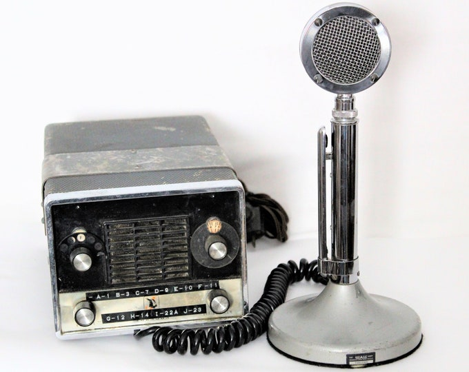 1960s Johnson Viking Base CB radio with Astatic D104 Microphone