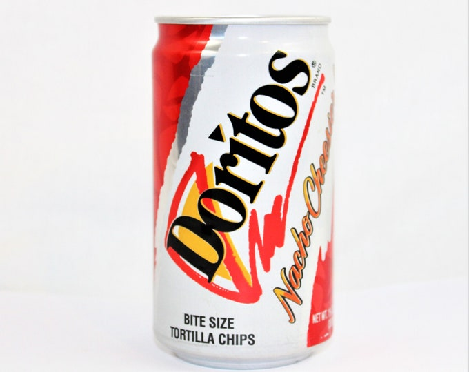 Frito-Lay Pop Can / 1990s Doritos in a Can / Food Memorabilia / Snack Food Advertising