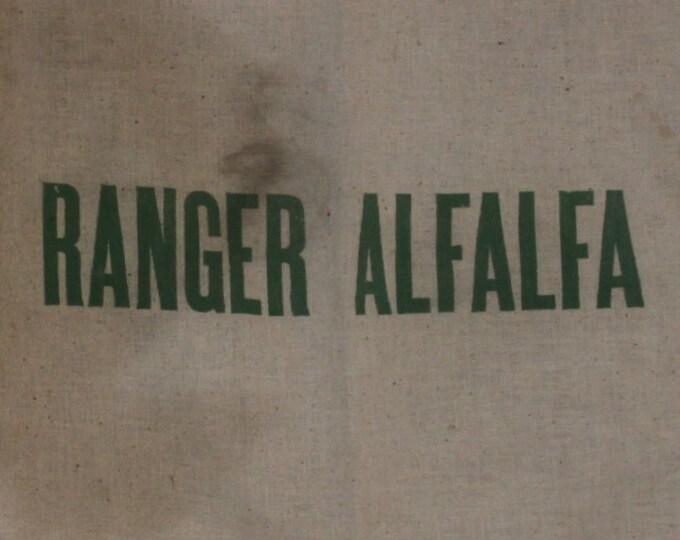 Vintage Feed Sack, Ranger Alfalfa Sack, Cotton Feed Sack