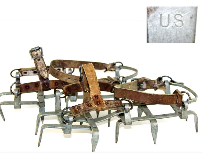 WWII Mountain Spikes / Ice Cleats, US Militaria Ice Cleats