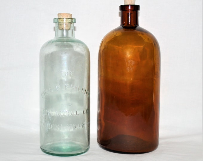 Antique Apothecary Bottles / Charles H Phillips / Pharmaceutical Bottles