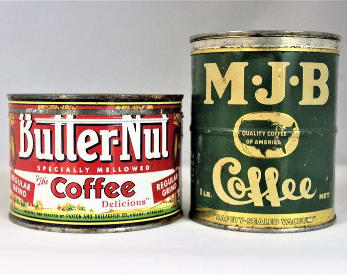 Vintage pair of Coffee Tins