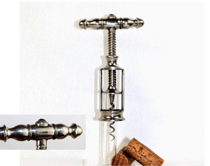 German Open Frame Corkscrew, Wine Bottle Opener